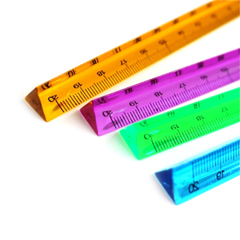 20cm Triangular Architect Scale Ruler Imperial Scale In 3 Side Coded Sewing Scale Imperial Measurements Random Color image