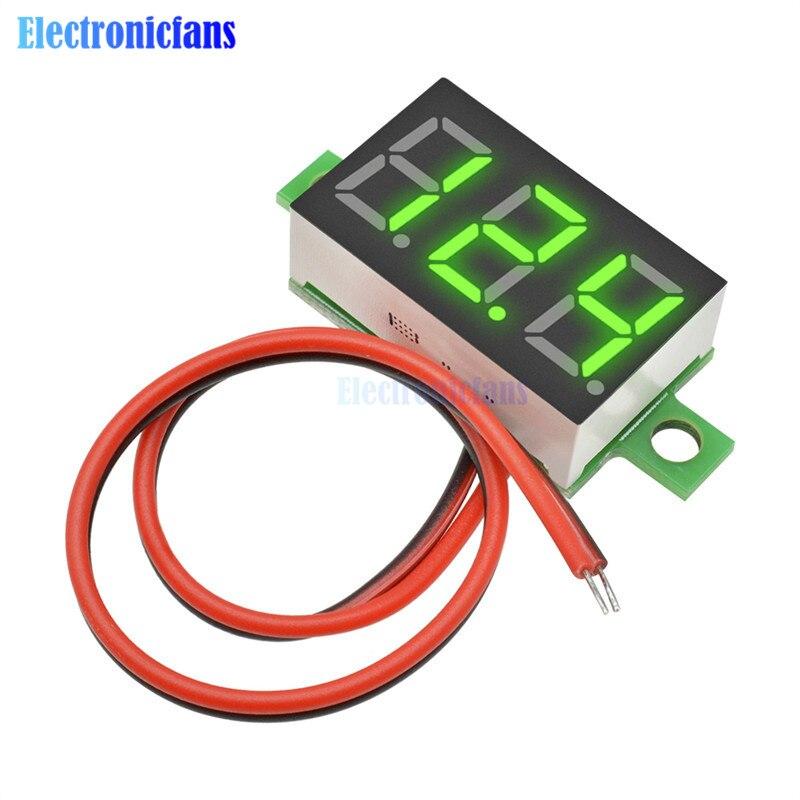 0.36 Inch Mini LED Digital Voltmeter Green Panel Voltage Meter DC 4.7~32V 3-Digit Display Adjustment Voltmeter