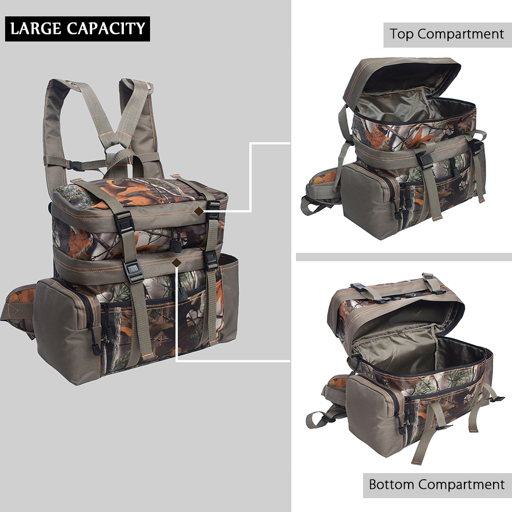2-in-1 Tactical Pouch Nylon Hunting Range Bag Shoulder Travel Bags Outdoor Multifunctional Tactical Pouches Military Gear Pouch