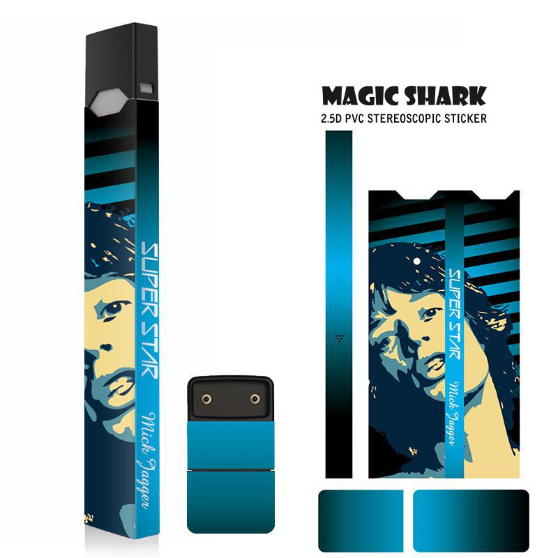 Magic Shark Monroe Madonna Jackson Marilyn Super Star Stereo Film Sticker For Juul Printing Cover PVC Skin Case Sticker