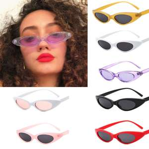 Sunglass Trend Popular-Protection Frame Elliptical Ocean-Film Drop-Shaped