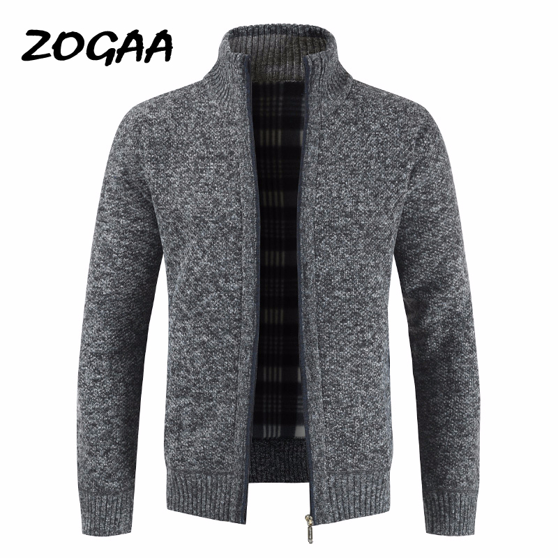 ZOGAA Autumn Thick Fashion Business Casual Sweater Cardigan Men Brand Slim Fit Knitwear Outwear Warm Winter Sweater Jumper Men