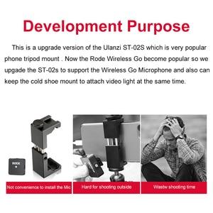Image 5 - Ulanzi Soporte de Metal para teléfono móvil, Clip de soporte para teléfono móvil con zapata fría para micrófono Go inalámbrico Rode para iPhone 11 Pro Max Samsung Huawei