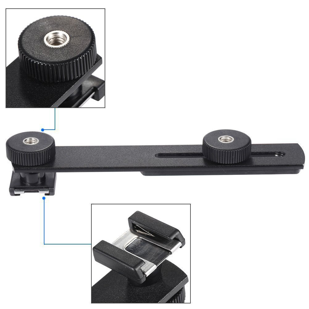 Double Head Stand Flash Camera Microphone Stand Hot Shoe Fill Light Camera Tripod For DSLR SLR Camera