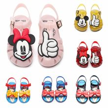 Baby Baby Shoes 2019 New Summer Cute Cartoon Style Soft Jelly Shoes Girls Nonslip Beach Children Sandals Children Sandal(China)