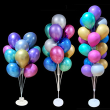 1/2Set Balloon Stand Display Stand Happy Birthday Wedding Party Decoration Balloon Arch Stand Floating Balloon Support Column