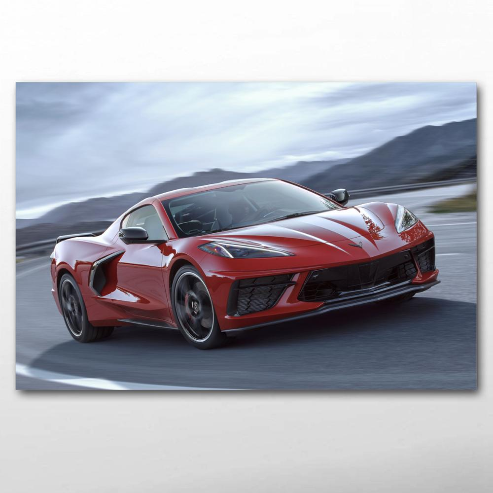 "Chevrolet Corvette Supercar Art Wall Poster 40/""x24/""  044"