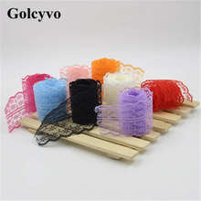 1Meter Colorful Gauze Crochet Lace Trims Edge Colthing DIY Crafts Charms 4.2cm Width