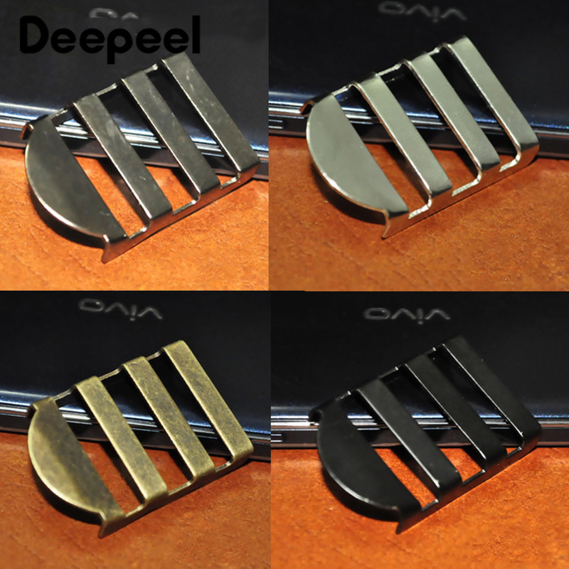 Deepeel4/10pcs 25mm Metal Ladder Buckles Bags Strap Adjustment Tri-Glide Buckle DIY Webbing Belt Clasp Hook Hardware Accessories