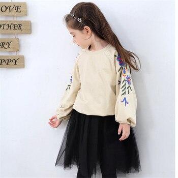 Ropa de niño niña, conjunto de diseño para niñas, conjuntos de ropa para niños, conjunto de 2 camiseta y falda de manga larga para Uds de otoño e invierno 8 10, nuevo
