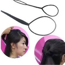 2pcs/Set Hair Braid Maker Ponytail Creator Plastic Loop Styl
