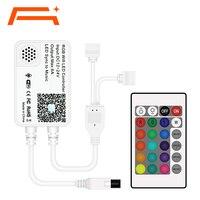 Controlador WiFi, Compatible con el asistente de Google Alexa, funciona con tira de luces LED RGB, viene con 24 teclas de Control remoto
