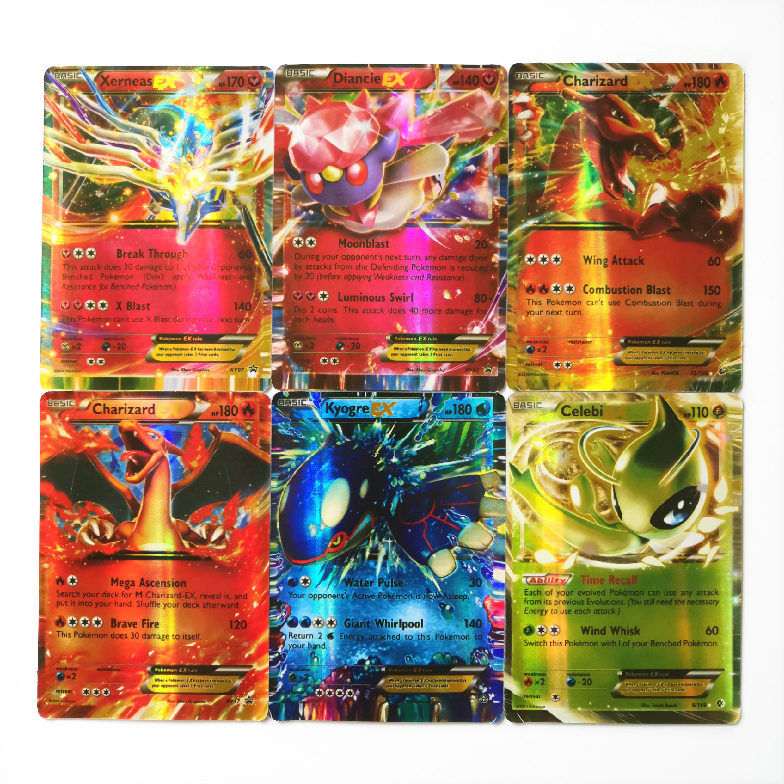 200 шт. Покемон EX Сияющий Такара TOMY карты игры битва карт 100 шт. торговые карты игры детская игрушка
