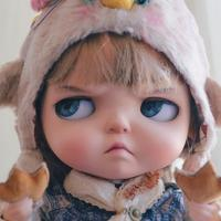 ICY 19 joint blyth doll with makeup face white skin with hair Girl gift Tonic meat doodle angry expression makeup doll Fat toot