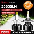 Bullvision Hir2 9012 Led 360 фара H7 H11 9005 9006 автомобиль лампа 20000Lm 12V H8 H9 H1 лед освещение HB3 HB4 противотуманные лампы Moto H4 CSP