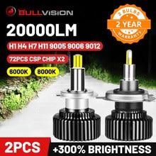 Bullvision Hir2 9012 Led 360 Farol H7 H11 9005 9006 Lâmpada Do Carro 20000Lm 12V H8 H9 H1 Iluminação Ice HB3 HB4 Lâmpadas de Nevoeiro Moto H4 CSP