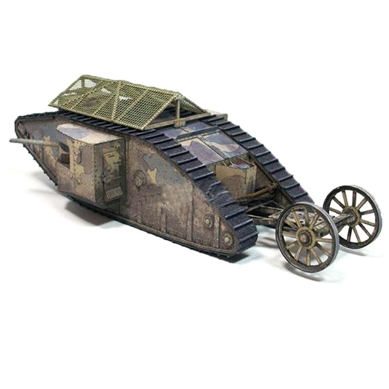 1:35 British Mark.I Male Tank DIY 3D Paper Card Model Building Sets Toys