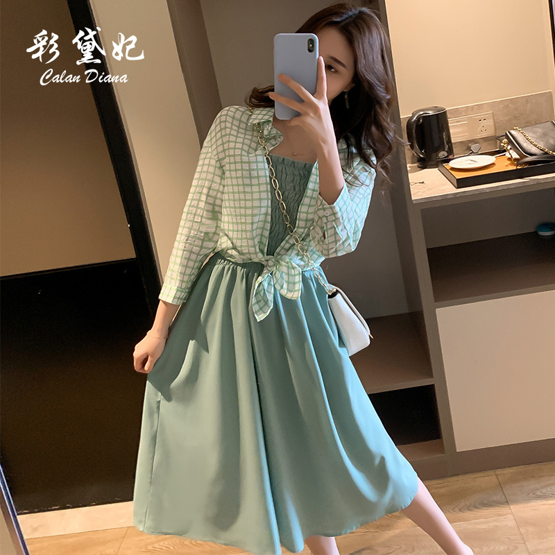 Two-Piece Set Skirt Very Fairy Of France Non-mainstream 2019 New Style Hipster Shirt Women's Tennis Hong Yang Gas Summer Wear