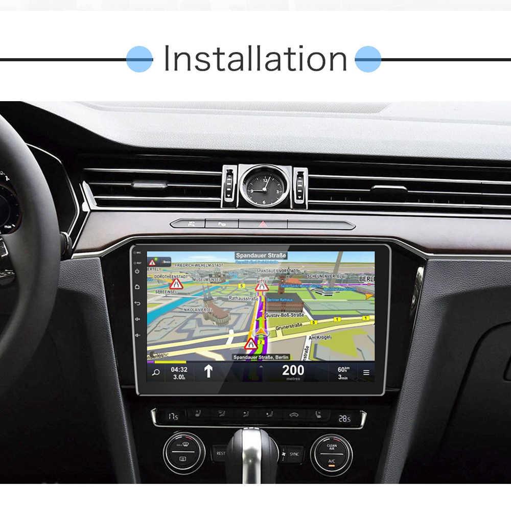 "AMPrime 2din カーラジオ 9/10 ""アンドロイド車のマルチメディアプレーヤー GPS Wifi Autoradio Bluetooth FM Mirrorlink テープレコーダーとカメラ"