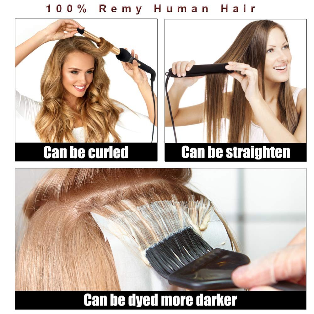 Rooted Tape in Human Hair Extensions Dark Brown to Platinum Ash Blonde, Reusable, Invisible, Seamless  Tape in Hair Extensions