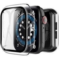 Plating Fall Screen Protector Abdeckung für Apple Uhr Serie 6 5 4 3 2 SE iWatch 38mm 40mm 42mm 44mm 44mm Schutz Zubehör