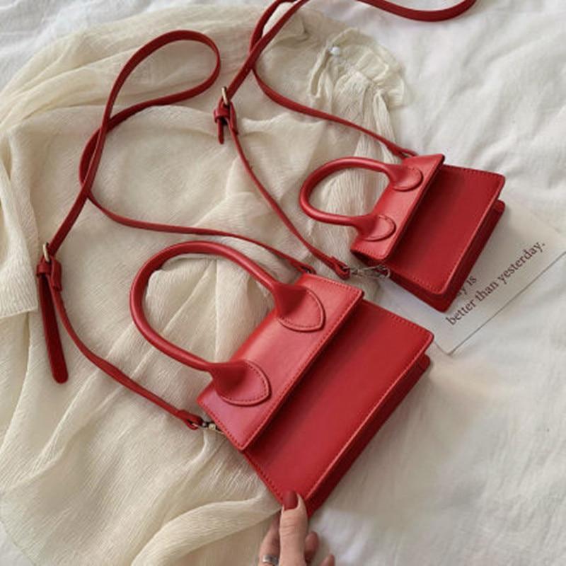 NEW Mini Pu Leather Crossbody Bags For Women Small Square Bag Shoulder Messenger Bag Lady Purses And Handbags Bolsa Feminina