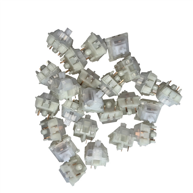 Gateron 5Pin Milky Yellow Switches black red brown blue clear green 5pin switch for Mechanical Keyboard fit GK61GK64 GH60
