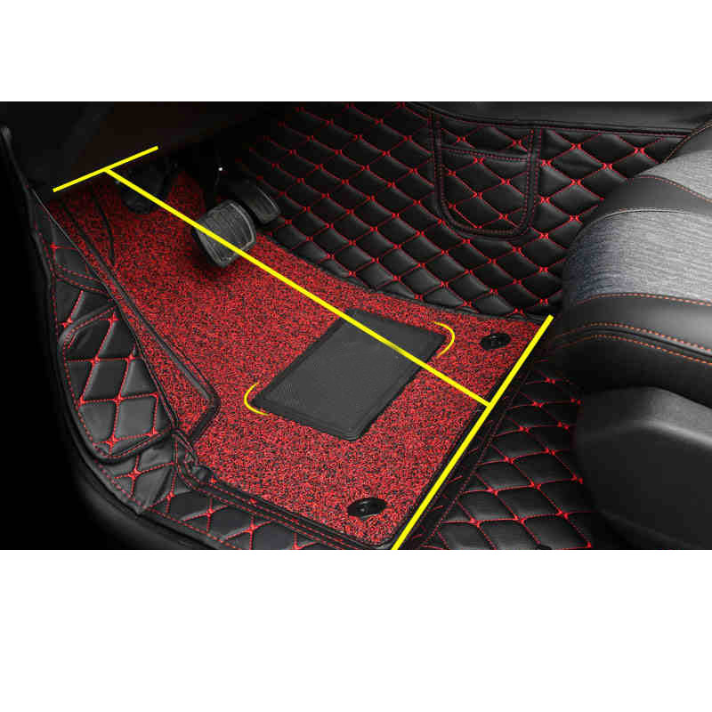 Lsrtw2017 Leather Car Foot Mat Floor Mats for Peugeot 5008 2019 2020 Interior Accessories Rug Carpet|Interior Mouldings| |  - title=