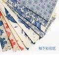 Керамическая переводная бумага, цветная Цветочная бумага, сине-белая наклейка 54x37 см, высокотемпературные керамические наклейки, инструмен...