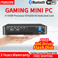 MSECORE i7 9700F GTX1650 4G Cartão dedicado DDR4 gaming Mini PC Windows 10 Desktop jogo de computador pc linux ubuntu intel NUC HTPC Mini-computador barebone unidade de sistema pc industrial pc stick industrial DP HDMI