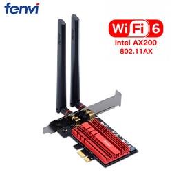 Wireless Desktop Per Intel Wi-Fi 6 AX200 Scheda Bluetooth 5.0 Dual Band 2400Mbps Adattatore Wifi PCIe AX200NGW 802.11ax Finestre 10