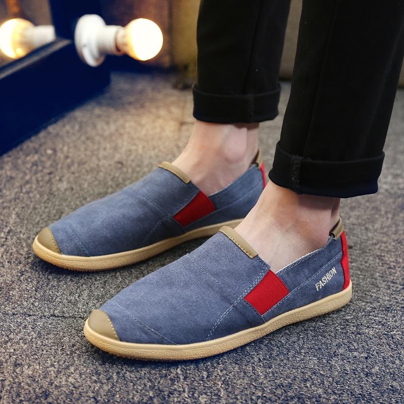 Image 5 - ARUONET Simple Men Flats Plimsolls Retro Style Canvas Casual Shoes Men Espadrille Fisherman Shoes Plus Size Alpargatas Hombre-in Men's Casual Shoes from Shoes