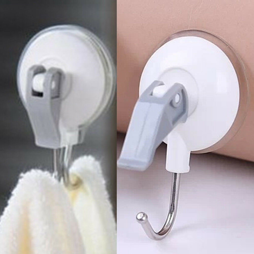 Powerful Vacuum Suction Cup Hooks 2/3/5KG Max Payload Household Hook Kitchen Bathroom Towel Strong Heavy Duty Adhesive Wall Hook