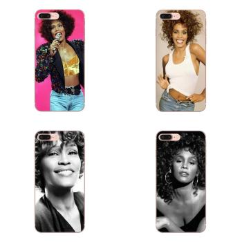 Retail Whitney Houston Star Soft TPU Phone Skin For Apple iPhone 11 Pro 4 4S 5 5S SE 5C 6 6S 7 8 X XR XS Plus Max image