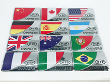 цена на 1pcs 7.1cm*4.6cm 3D New fashion style VIP OWNERSNational flag car stickers emblem car styling for Badge decal Auto Accessories