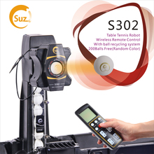 SUZ لاسلكي للتحكم عن بعد تنس طاولة روبوت S302 بينغ بونغ آلة التدريب التلقائي تنس الكرة آلة ل 40 + كرات