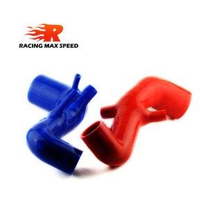Image 2 - Dopływ powietrza turbo pleciony silikonowy wąż ssawny/rura niebieski dla AUDI TT 225 , S3 ,Seat Leon