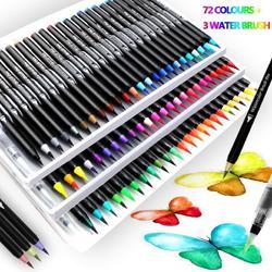 Długopisy z pędzelkiem akwarelowym miękka i elastyczna końcówka nylonowa  idealna do kaligrafii  malowania dzieci  kolorowanka dla dorosłych  dzieła artystyczne  człowiek