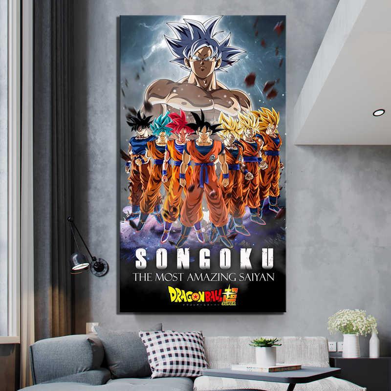 Wand Kunst Leinwand Malerei Poster Animation Dragon Ball Z Bilder Modulare Hause Dekoration Modulare Bilder Moderne Wohnzimmer