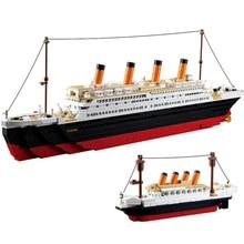 City Legoes Titanic RMS Boat Ship Sets Model Building Blocks DIY Hobbies Educational 3D Bricks Kids Toys for Children Gifts цены