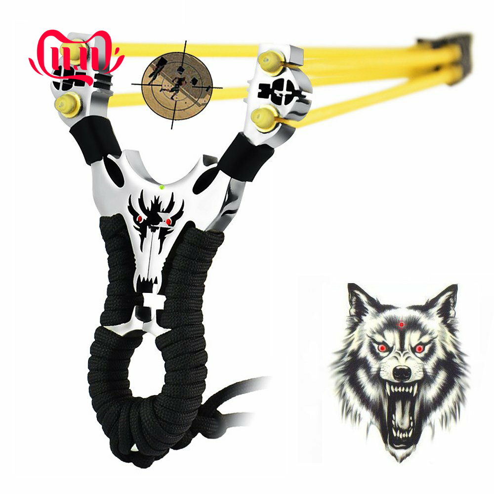 Professional Outdoor Hunting Stainless Steel Slingshot Cataplut Tool With 1 Band
