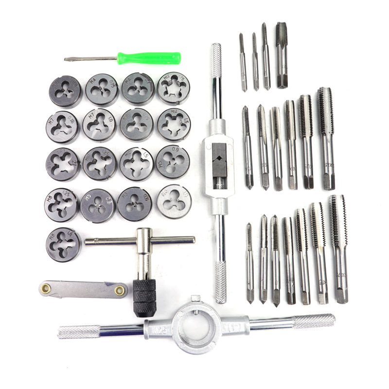Tools : XCAN Tap Die Set 40pcs M3-M12 Metric Thread Screw Tap Wrench Die Hand Threading Tools