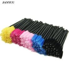 1000pcs/lot Eyelash Extension Brush Disposable Eye lashes Eyebrow Comb Mascara Wand Applicator 6 Colors Beauty Makeup Brushes