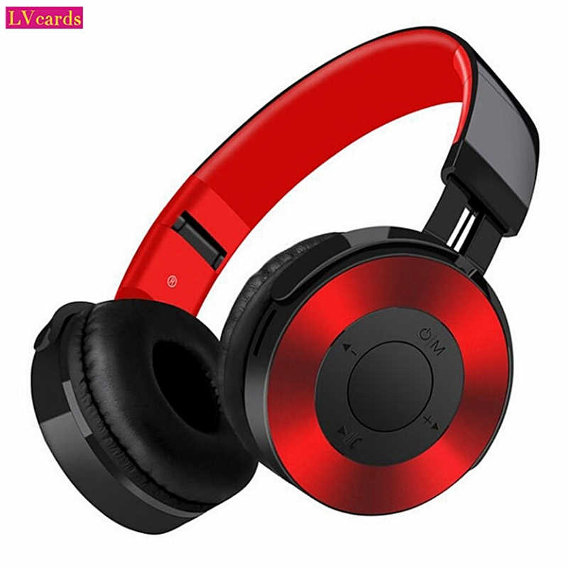 Lvcards M Headphone Nirkabel Bluetooth Headset Foldable Stereo Headphone Gaming Earphone dengan Mikrofon/TF/FM Kabel Earphone