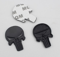 sticker motorcycle 3D Metal Skull Car Sticker Emblem Badge Decal Waterproof The Punisher Skull Sticker Motorcycle Car-styling Decoration Decal (5)