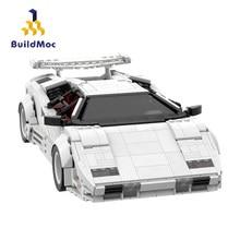 BuildMoc teknik araç MOC hız şampiyonları şehir Racers Supercar süper spor araç yapı taşları Bricks teknİk oyuncak çocuk için