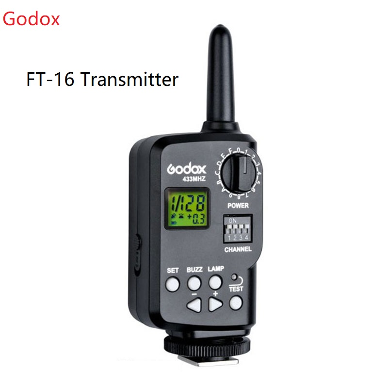 <font><b>Godox</b></font> FT-16 16 Channel Wireless Power Controller Trigger Transmitter for AD-360 AD-180 DE300 DE400 SK300 SK400 QT600 E250 <font><b>E300</b></font> image