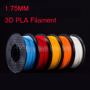 Image 1 - 1kg 1.75mm PLA filament  3D printer filament in mutil colors to print various models for FDM 3D printer supplies