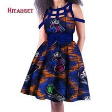 Платье женское вощеное без рукавов с принтом wy3308