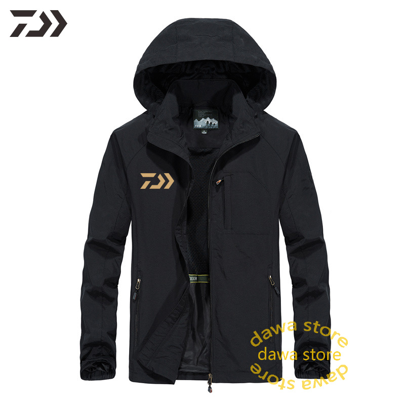 Jacket Daiwa Spring Breathable Windproof Thermal Fishing Clothes Men Hooded Solid Anti-sweat Clothing Climbing Fishing Hoodies